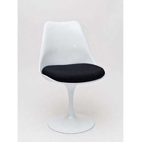 D2.design Krzesło tul inspirowane tulip chair - czarny ||biały (5902385702683)