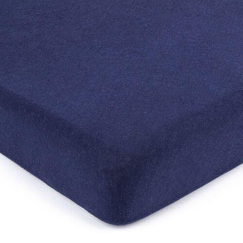 jersey prześcieradło ciemnoniebieski, 160 x 200 cm, 160 x 200 cm marki 4home