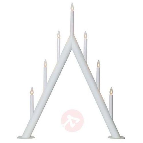 Świecznik Circum, szpiczasty, 7-punktowy, biały (7391482036186)
