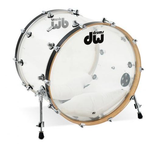 bassdrum akryl clear marki Drum workshop
