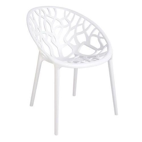 Krzesło koral - polipropylen - białe marki King home