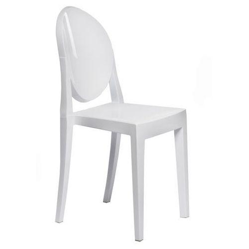 Krzesło Viki białe pełne, kolor biały