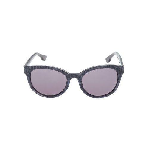 Diesel okulary przeciwsłoneczne czarny fioletowy uni
