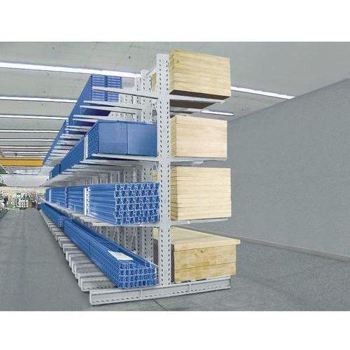 Eurokraft Regał wspornikowy, wersja superciężka, wys. stojaka 2500 mm, dwustronny, regał p