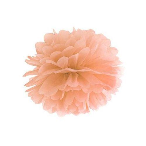 Dekoracja wisząca pompon kwiat - brzoskwiniowa - 35 cm - 1 szt.