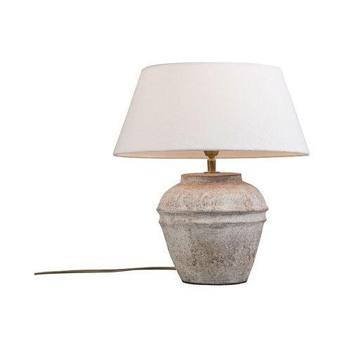 Lampa stolowa Arta XS Scotch z kloszem 35cm lniany bialy