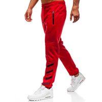 Spodnie męskie dresowe joggery czerwone Denley 80535, kolor czerwony