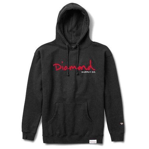 Bluza - og script hoodie sp18 black (blk) marki Diamond
