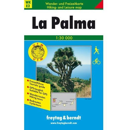 La Palma mapa turystyczna 1:30 000 Freytag & Berndt La Palma (9783707903461)