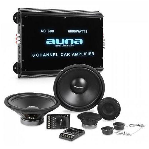 Auna CS-Comp-12 kompletny zestaw głośników samochodowych hi-fi 6-kanałowa końcówka mocy (4260528631346)