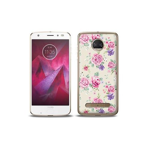 etuo Fantastic Case - Motorola Moto G6 Play - etui na telefon Fantastic Case - pastelowe różyczki, ETMT716FNTCFC003000