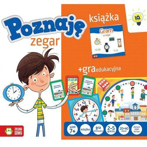 Książka z grą- poznaję zegar- nowe marki Zielona sowa