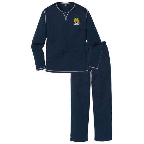 Piżama bonprix ciemnoniebieski, bawełna