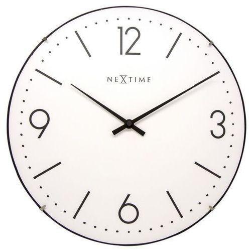 NeXtime - Zegar ścienny Basic Dome - biały, kolor biały