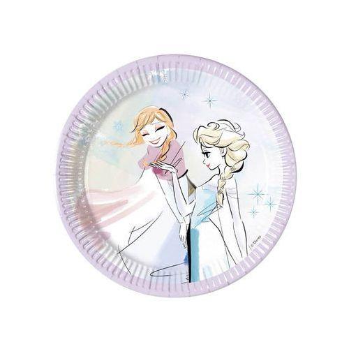 Talerzyki urodzinowe frozen sparkle - kraina lodu - 20 cm - 8 szt. marki Procos disney
