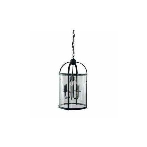 Lampa wisząca zwis Britop Lighting Bellona 6x60W E14 czarna / przezroczysta 9800604, kolor Czarny