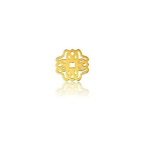 Zawieszka - łącznik, Ażurowy Kwiat, złoto próby 585, BL 190-AU