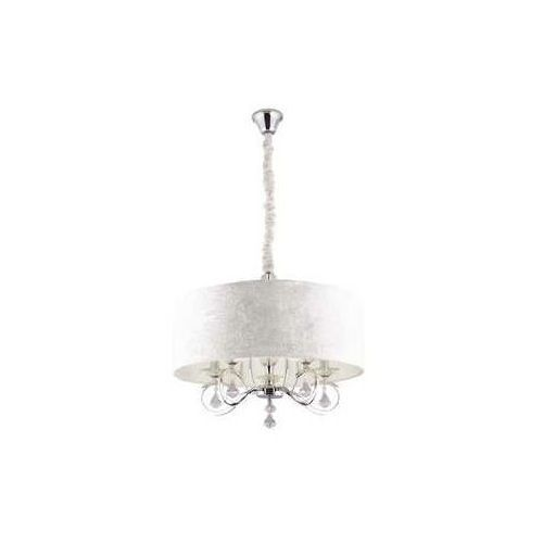 MAXlight Amsterdam P0103 Lampa oprawa wisząca zwis 5x40W E14 biały/chrom >>> RABATUJEMY do 20% KAŻDE zamówienie!!!, P0103