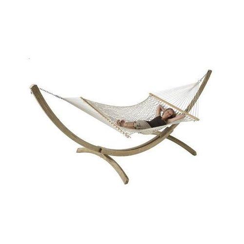 La siesta Zestaw hamakowy: hamak z drążkiem virginia ze stojakiem canoa, ecru nrr14cns201