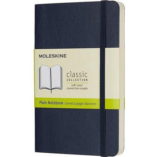 Notes w miękkiej oprawie kieszonkowy szafirowy gładki marki Moleskine