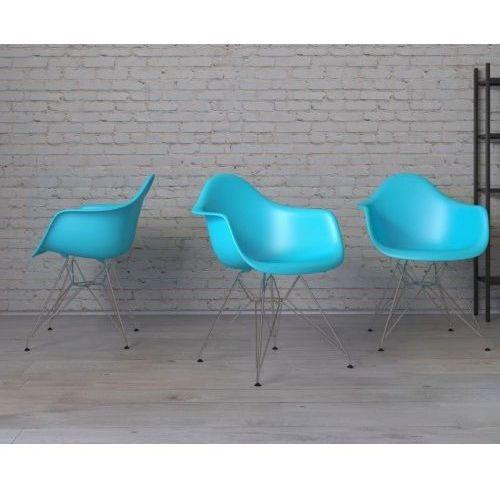 Krzesło P018 PP inspirowane DAR - morski, d2-5072