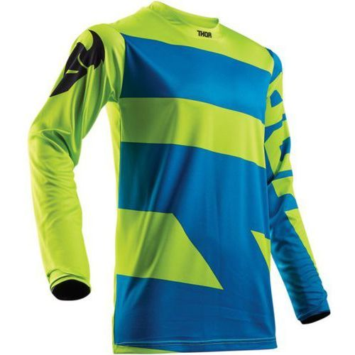 Thor bluza youth pulse level electric blue/lime =$