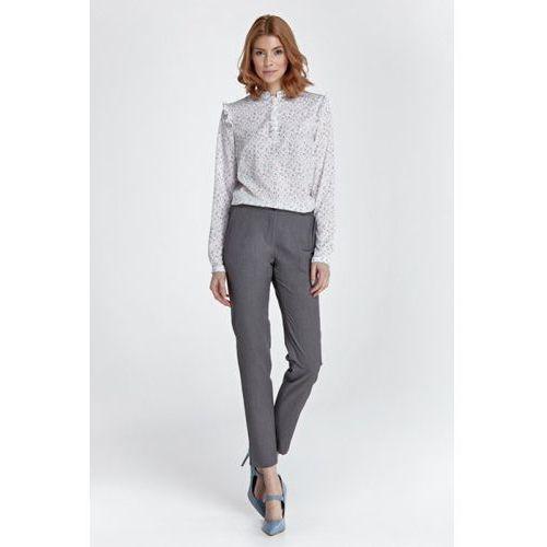 Eleganckie spodnie z rozcięciem SD28 Grey, kolor szary