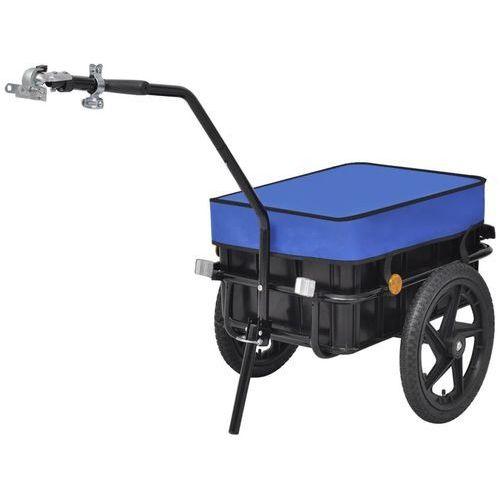 Vidaxl przyczepa rowerowa transportowa/taczka 70 l, niebieska (8718475976530)