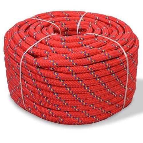 vidaXL Linka żeglarska, polipropylen, 8 mm, 100 m, czerwona