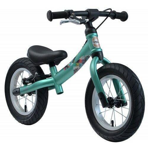"""Rowerek biegowy 12"""" BIKESTAR obracana rama 2w1 hamulec kolor zielony (4260184714889)"""