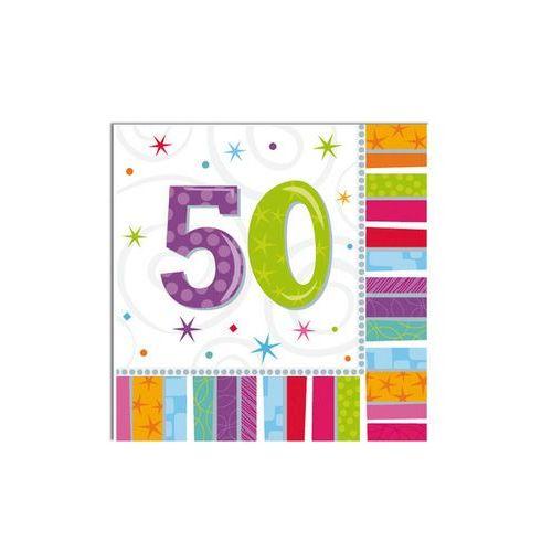 Serwetki urodzinowe na 50 urodziny - 33 cm - 16 szt.