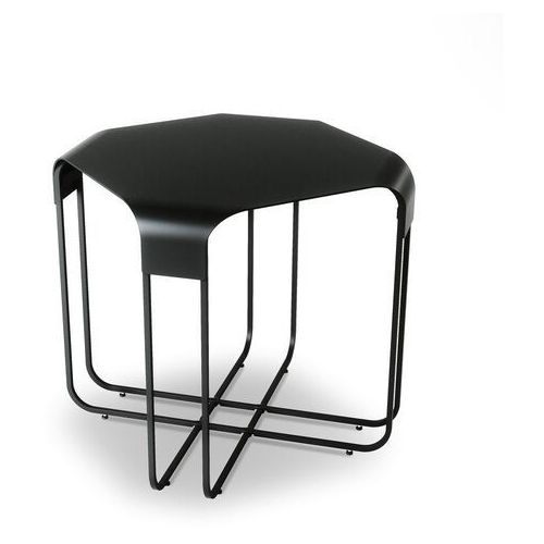 Umbra - stolik lexy - biały/drewno naturalne - 51,00 cm