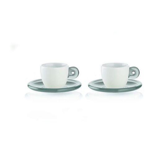 Guzzini - Gocce - kpl. 2 filiżanek do espresso, szary - szary (8008392267133)