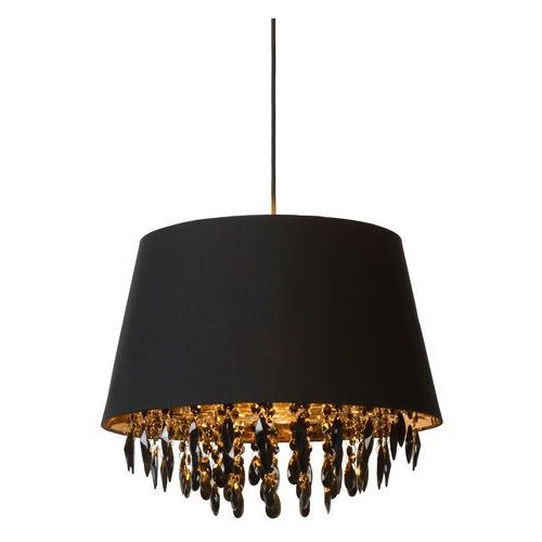 Lucide Dolti - lampa wisząca czarny/złoty czarne kryształy Ø45cm (5411212781819)