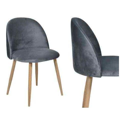 Krzesło tapicerowane jazz - grafitowe marki Gockowiak