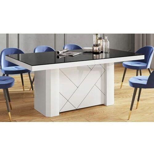 Stół KOLOS MAX 180-468 Czarno-biały połysk, HS-0251