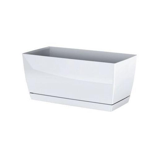 Prosperplast plastikowa skrzynka coubi case z podstawką biały, 24 cm, 24 cm marki 4home