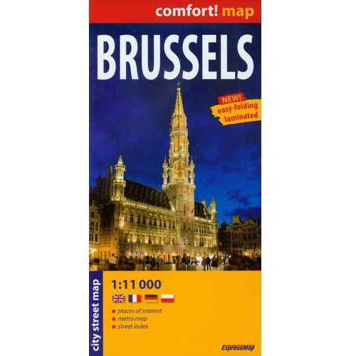 Brussels laminowany plan miasta 1:11 000, ExpressMap