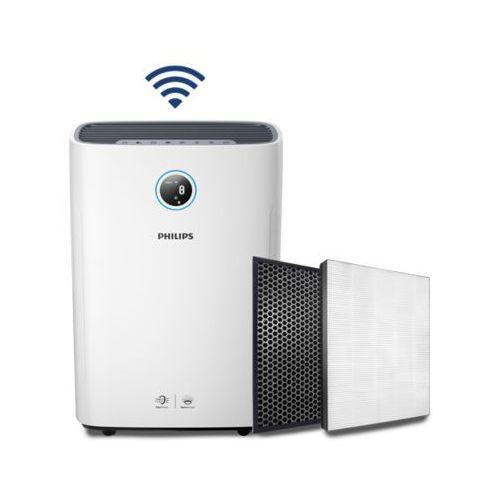 Oczyszczacz z nawilżaczem powietrza PHILIPS Seria 2000i AC2729/51 z aplikacją na telefon