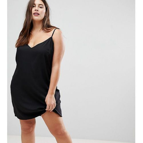 Asos curve Asos design curve mini cami slip dress - black