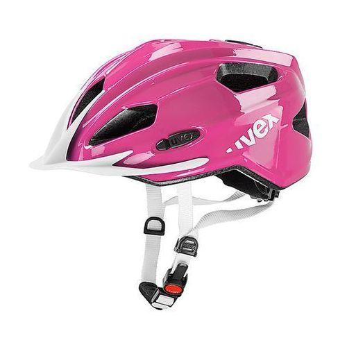 Dziecięcy kask rowerowy  quatro junior 50-55cm różowy marki Uvex