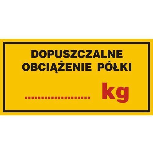 Dopuszczalne obciążenie półki....... kg marki Top design