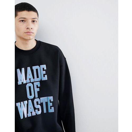 Weekday Big Steve Waste SweatShirt - Black, kolor czarny