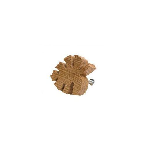 Premium gałka do mebli listek drewniany marki Home-idea