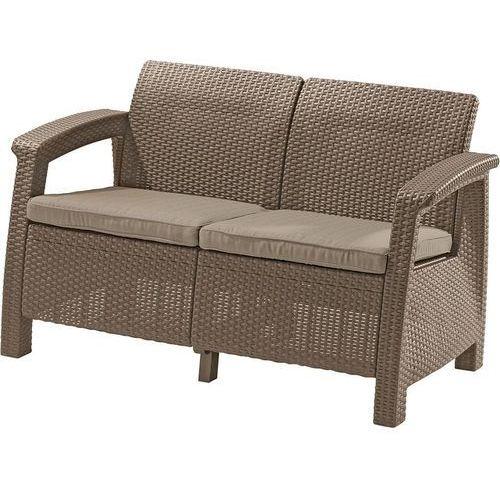 Sofa ogrodowa KETER 17197359 Corfu Love Seat cappuccino + DARMOWY TRANSPORT! (3253929115219)