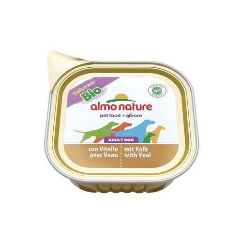 Almo nature daily menu bio dog cielęcina - szalka 24x100g (8001154121186)