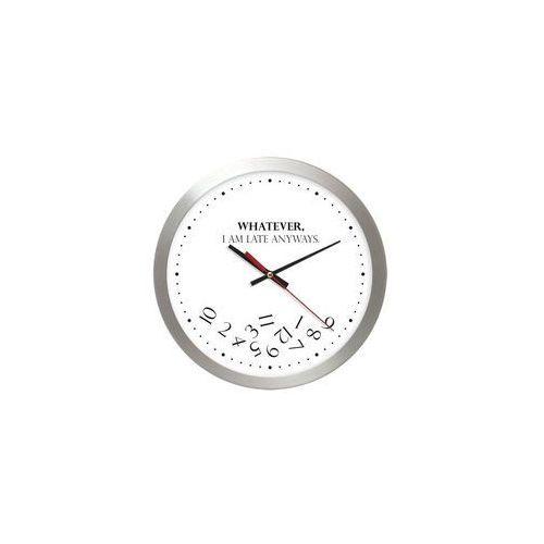 Aluminiowy zegar naścienny whatever