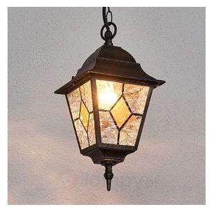 Brilliant Jason zewnętrzna lampa wisząca Czarny, Rudy, Brązowy, 1-punktowy