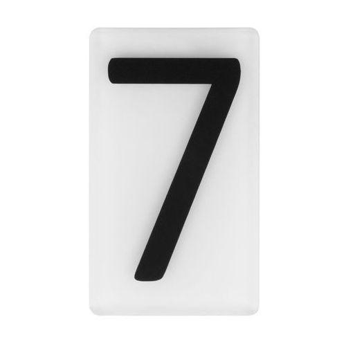 Cyfra 7 wys. 5 cm plexi czarna na białym tle (5905367009213)