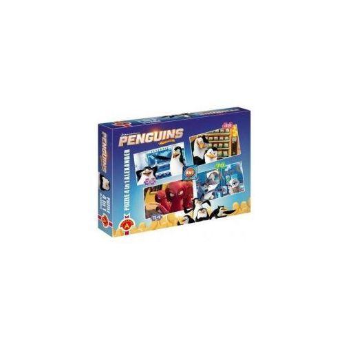 Puzzle 4w1 pingwiny z madagaskaru marki Alexander